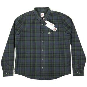 Lacoste Live Plaid Long Sleeve Button Front Shirt